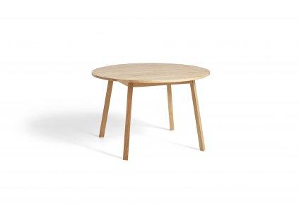 2575031509000 Triangle Leg Table dia115xH74 wb lacquer oak