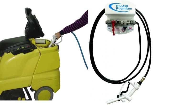 Plnění čistících prostředků do mycích strojů