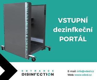 Vstupní dezinfekční portál