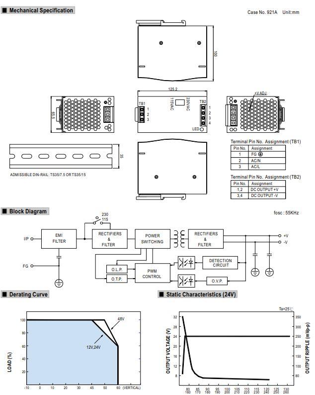 Trafo pro čerpadla  SEAFLO technický rozměr Create Flow
