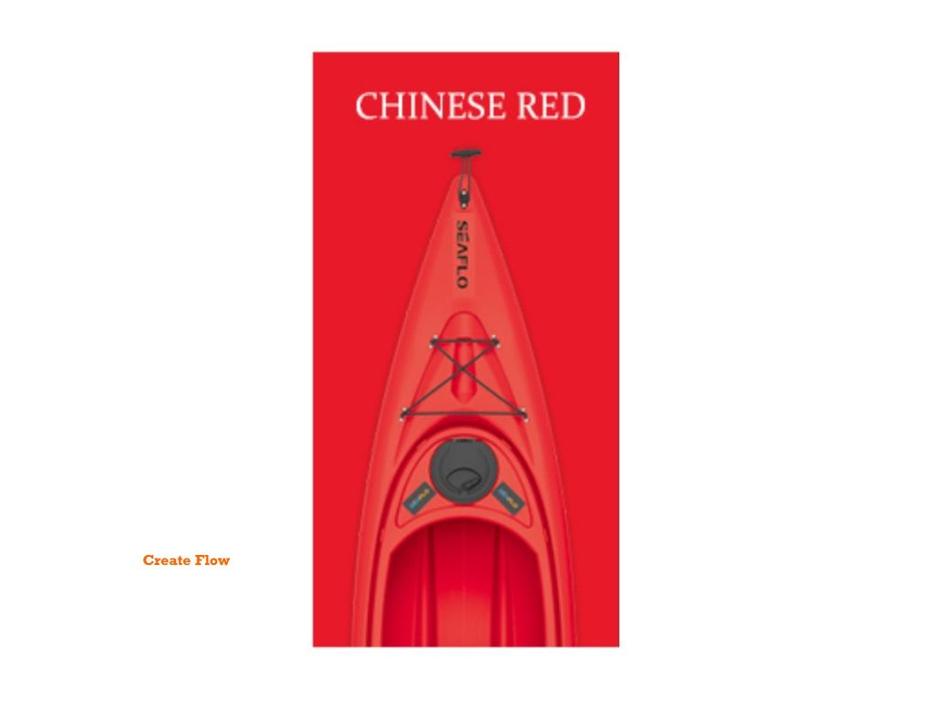 maine plastový Kajak SEAFLO barva červená Create Flow