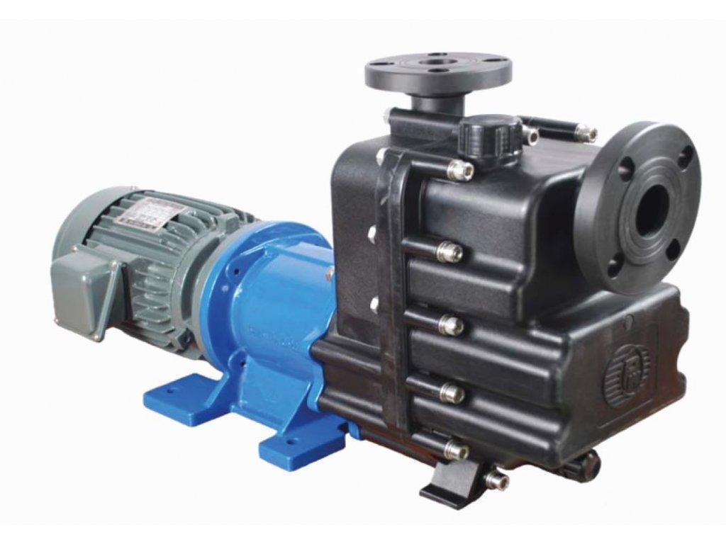 Samonasávací plastové odstředivé čerpadlo s magnetickou spojkou NH400 PanWorld na chemické roztoky Create Flow