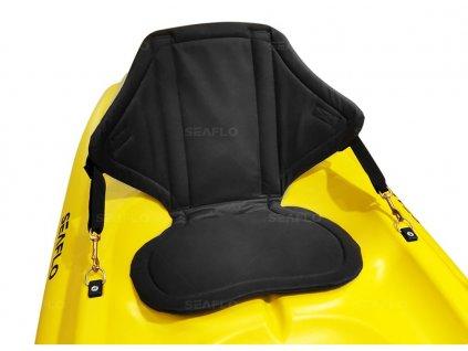 Zádová opěrka pro rodinný kajak SEAFLO se zádovou kapsou Crate Flow