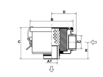 Náhradní paírový filtr pro podtladový filtr Create Flow