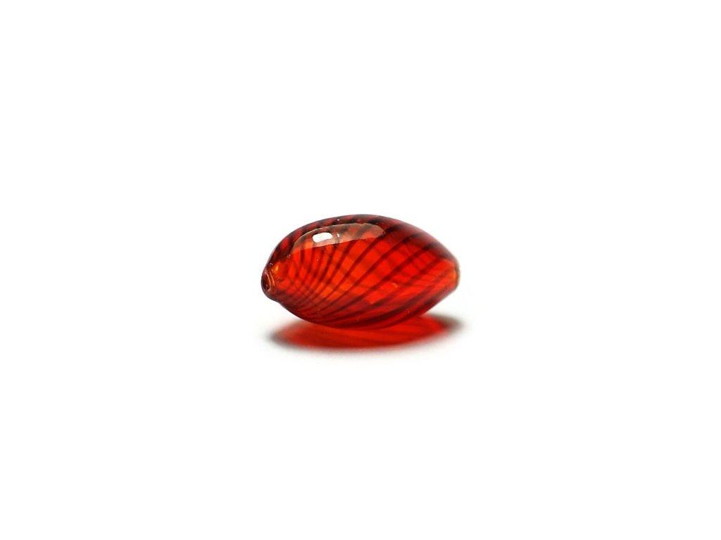 Skleněný foukaný korálek 8x14mm