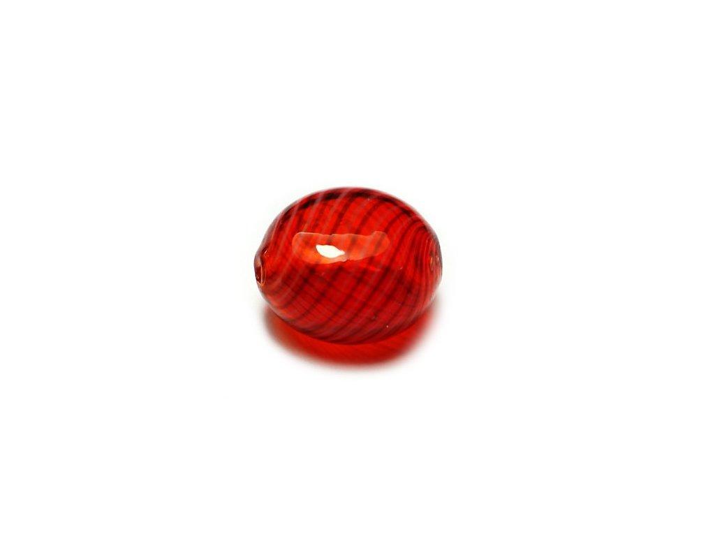 Skleněný foukaný korálek 9x16mm