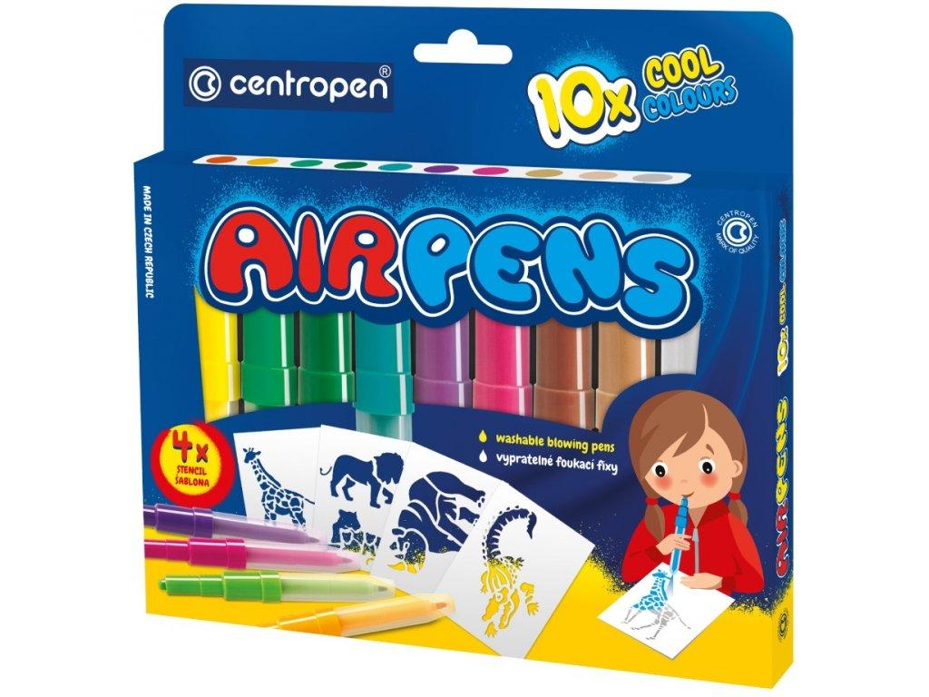 Foukací fixy na papír BLO pens COOL 10 ks