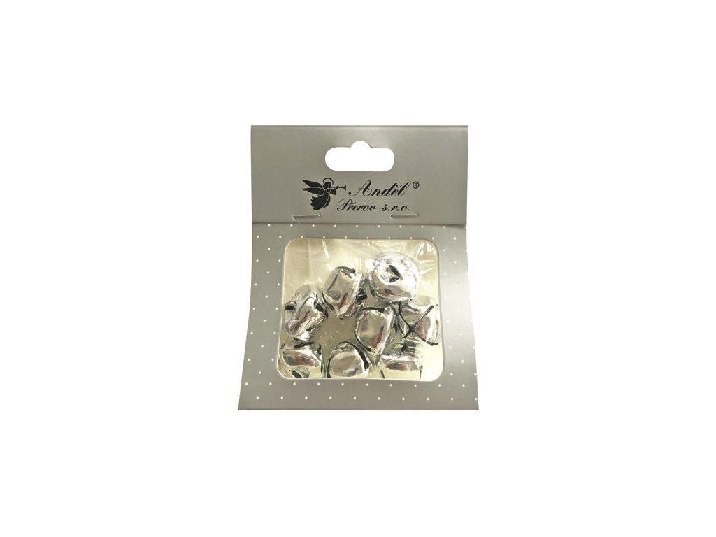 Rolničky stříbrné 2,5 cm, 8 ks
