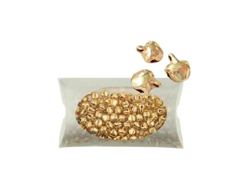 Rolničky miniaturní zlaté 7 mm, 48 g