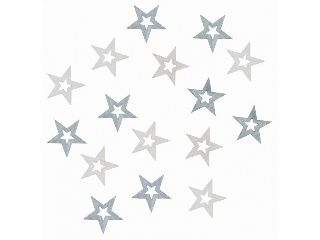 Dřevěné hvězdy šedé