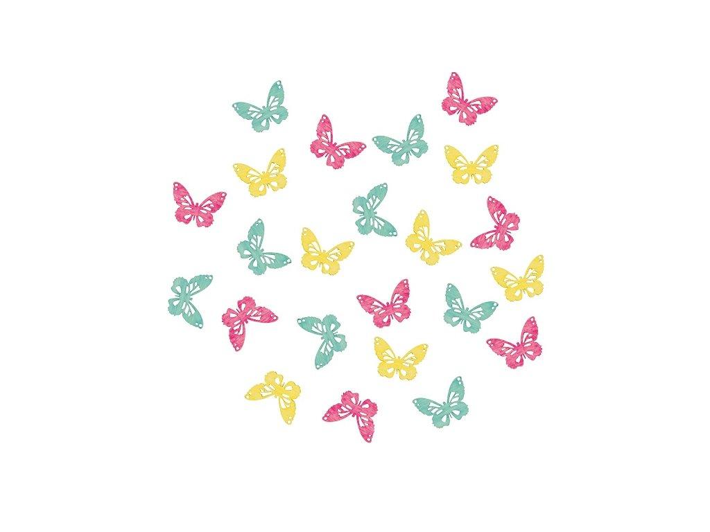 Dřevění motýli 2 cm, 24 ks