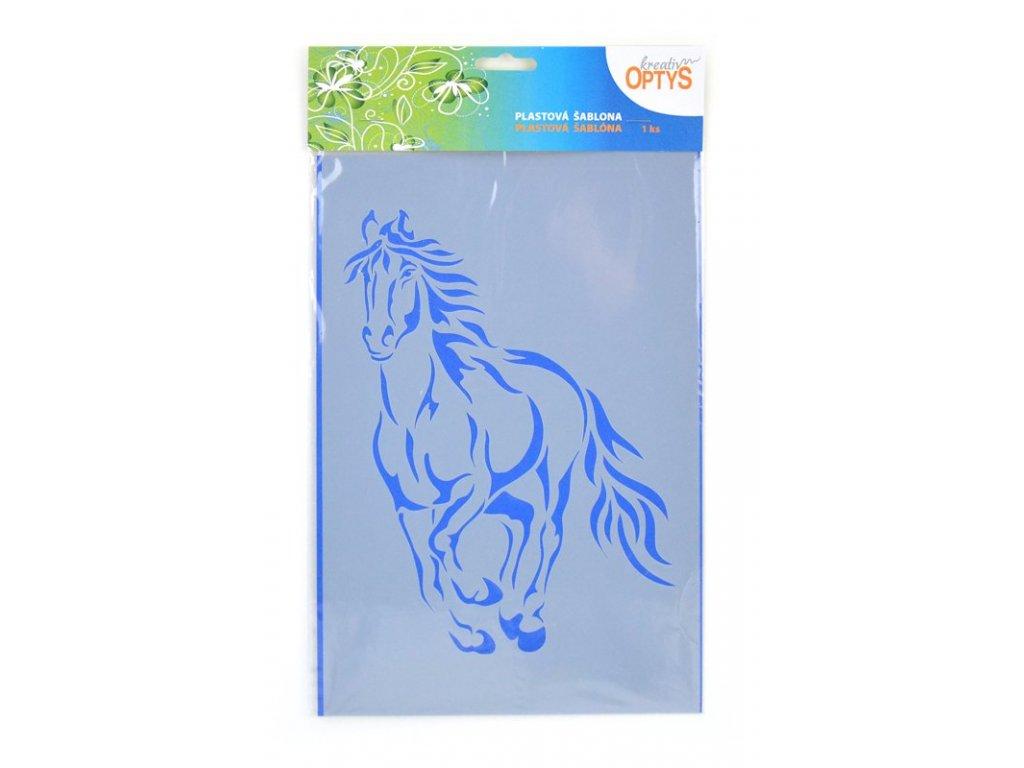 Šablona Běžící kůň, 20 x 30 cm