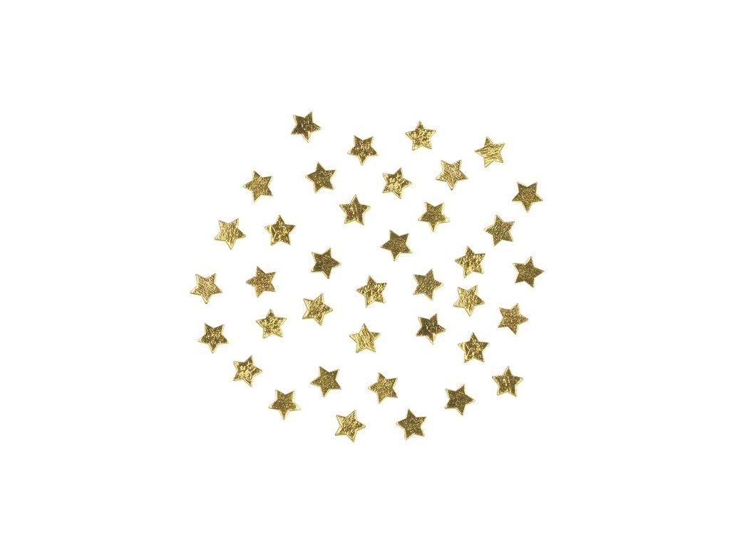 Hvězdičky dřevěné zlaté 1cm, 36 ks