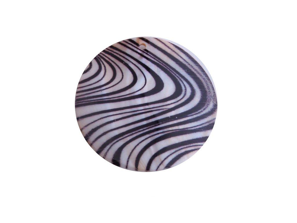 Perleťová placka hrubá 50mm