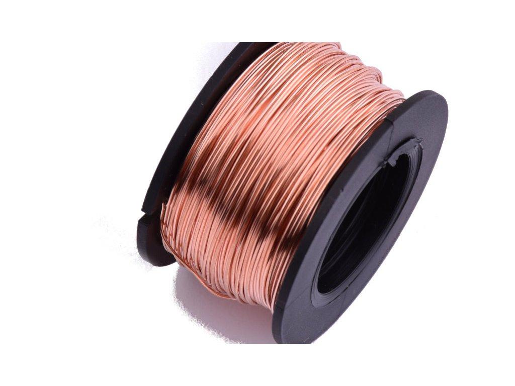 Měděný drát nelakovaný 0,5mm