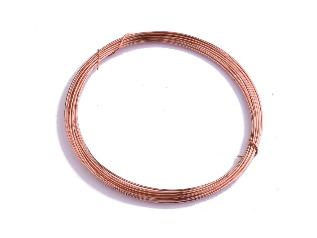 Měděný drát nelakovaný 1mm