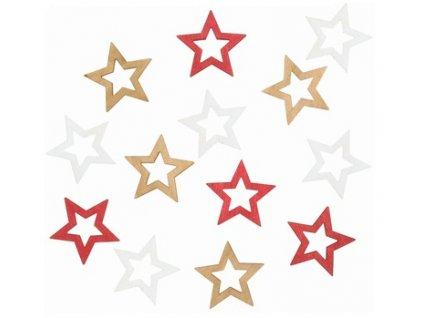 Dřevěné hvězdy 4cm