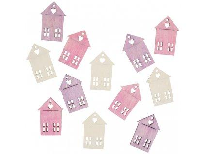 Dřevěné domy 4 cm, 12 ks