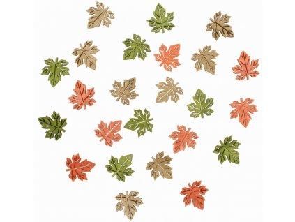 Dřevěné listy 2 cm, 24 ks