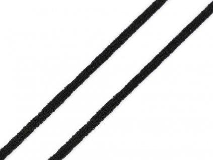 Gumička kulatá na roušky černá 2,5mm - 10m