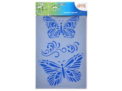 Šablona Motýli 2, 20 x 30 cm