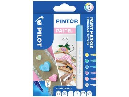 Značkovače PINTOR PASTEL 0,7, 6 ks