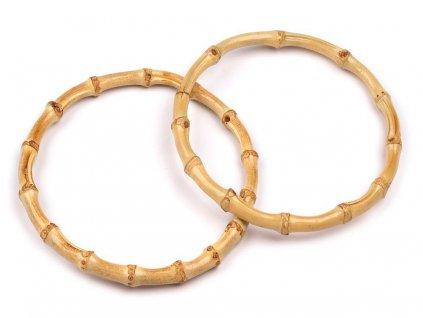 Bambusová ucha na tašky Ø15 cm tenká