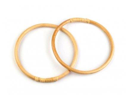 Bambusová ucha na tašky / lapač snů Ø15 cm - 1ks