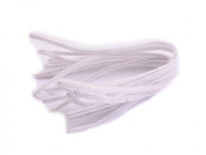 Chlupaté modelovací drátky 10ks - bílé