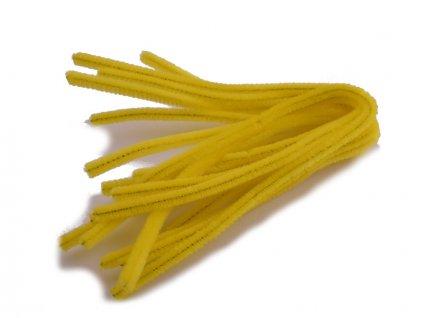 Chlupaté modelovací drátky 10ks - žluté