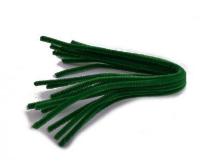 Chlupaté modelovací drátky 10ks -  zelené