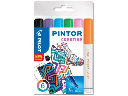 Značkovače PINTOR CREATIVE 0,7mm, 6 ks