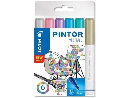 Značkovače PINTOR METAL 0,7mm, 6 ks