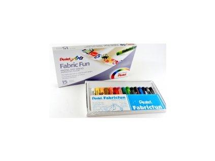 6172 3055 voskovky na textil pentel 15 barev