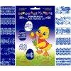 Smršťovací dekorace na vejce vzory modro-bílé 12ks v balení