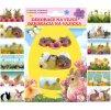 Smršťovací dekorace na vejce živá zvířátka, 12ks v balení