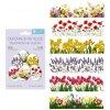 Smršťovací dekorace na vejce jarní květy, 12 ks