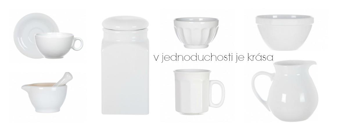 Biela kuchynská keramika