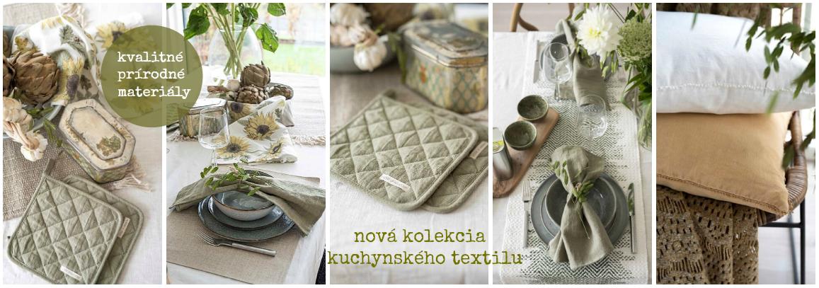 Kuchynský textil, prestierania, ramia, ľan