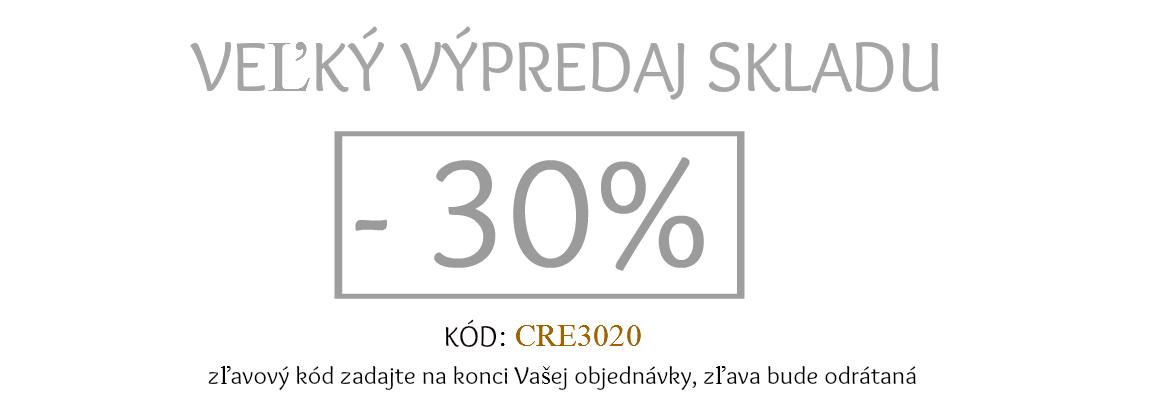 výpredaj 30%