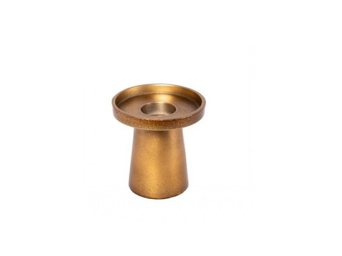 kovový svietnik zlatý