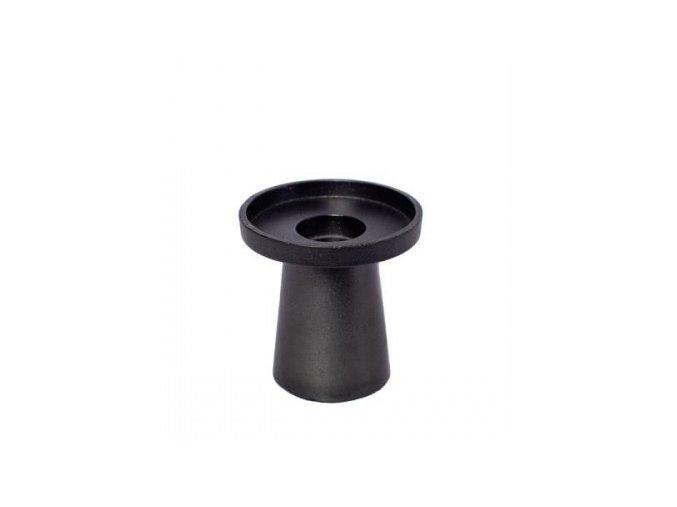 kovový svietnik čierny