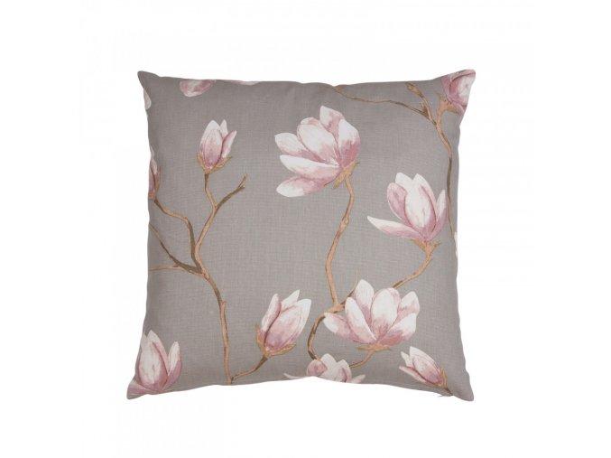 Obliečka na vankúš Magnolia - sivá