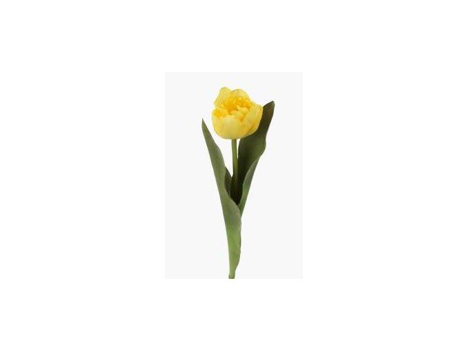 Umelý tulipán - žltý