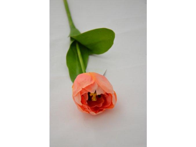 Umelý tulipán - oranžovo-ružový