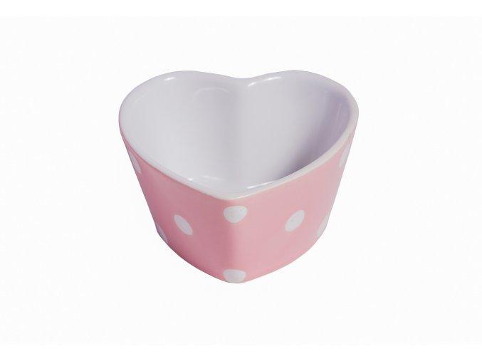 Miska srdiečko - pink dots dots Isabelle Rose