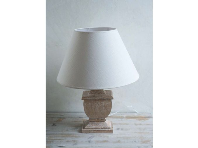Drevená stolová lampa - hnedá