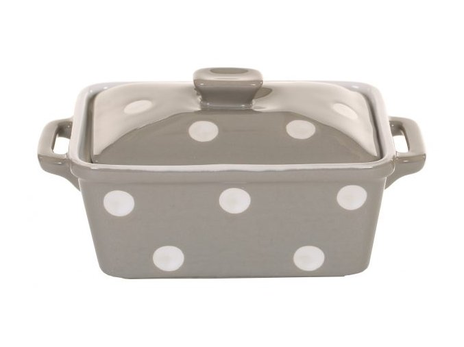Beige butter dish with dots Isabelle Rose 600x338