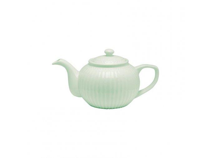 teapot alice pale green greengate