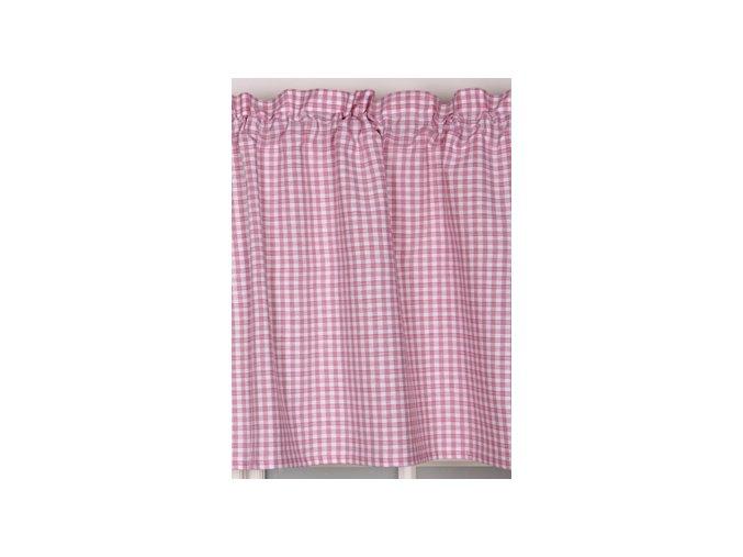Záclona - ružové pepito - metráž